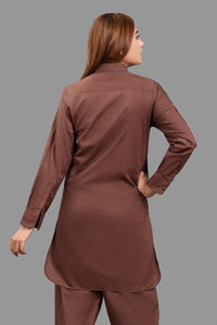 Pret 2 Pcs Suit (S/L) D/Brown