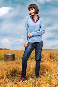 Fashion Shirt Melange Blue