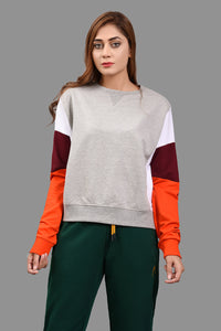 Panel Sweat Shirt Grey