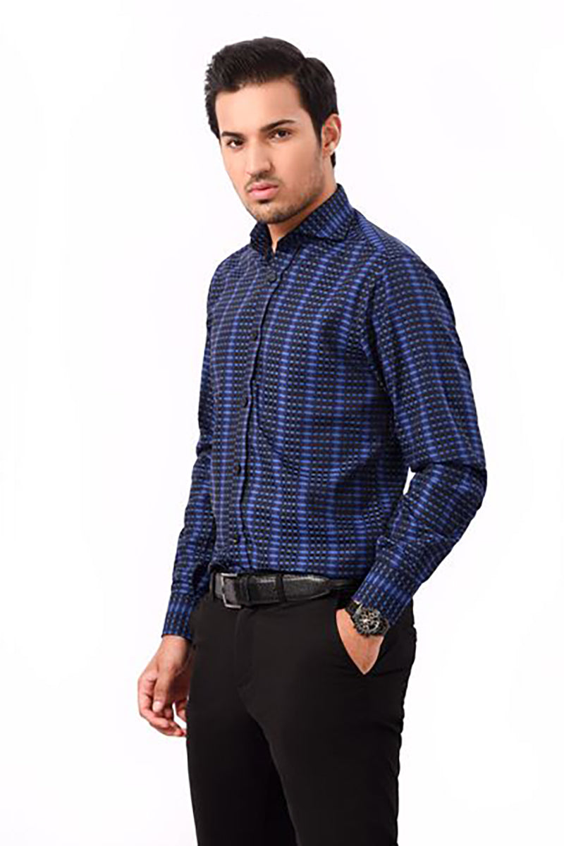 Formal Shirt Blue/Black
