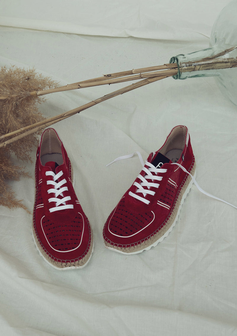 Sneakers cortina rojo
