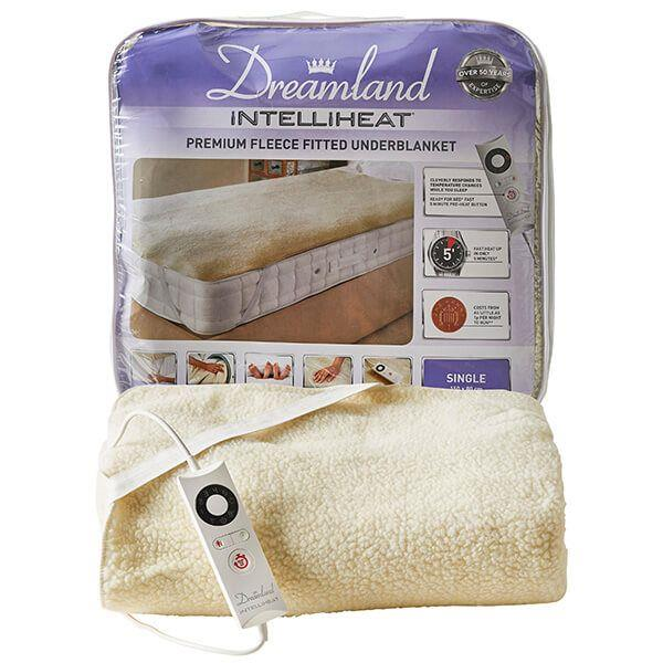 Dreamland Soft Fleece Fitted Underblanket Easy Fit Straps