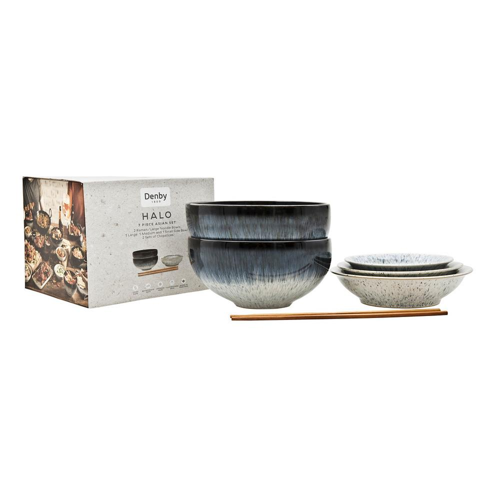 Denby Halo 7pc Asian Set