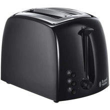 Load image into Gallery viewer, Russell Hobbs 21641 Textures  2 Slice Toaster  Black