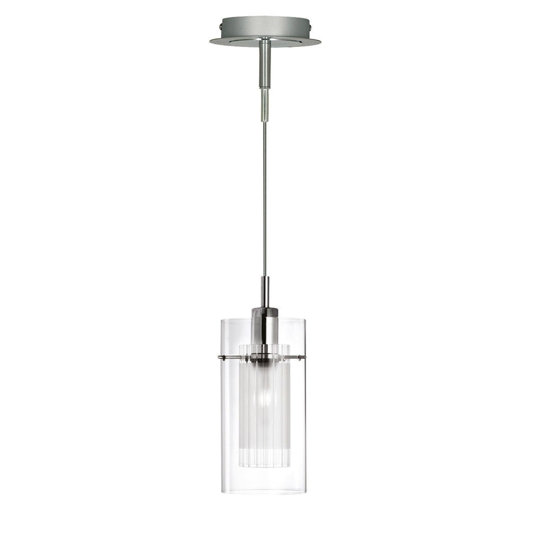 Duo I SS Double Glass Pendant 2301