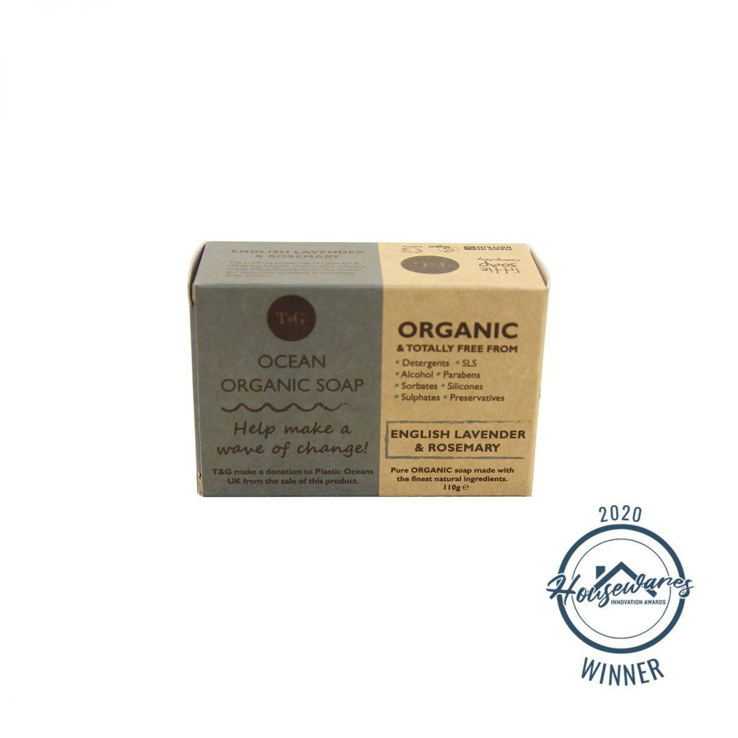 T&G Ocean Organic Soap 110g Lavender and Rosemary T&G