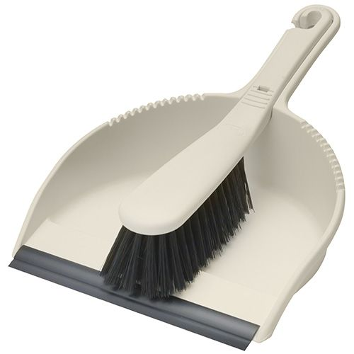 Addis Dustpan & Brush Set Stiff,  Linen