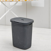 Load image into Gallery viewer, Addis Laundry Basket 50L Faux Rattan Resin
