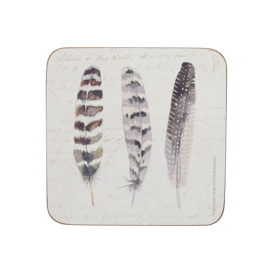 Pack Of 6 Coasters Feathers Creative Tops