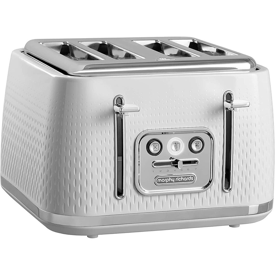 Morphy Richards X 243012 Verve Textured 4 Slice Toaster White