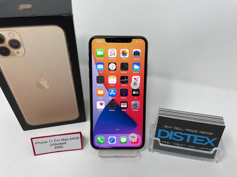 Apple iPhone 11 Pro Max 64GB Unlocked Gold (B)