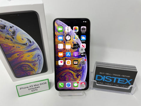 Apple iPhone XS Max 64GB Unlocked Silver (B)