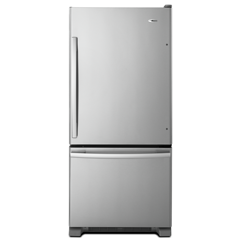 Amana® 29-inch Wide Amana® Bottom-Freezer Refrigerator with EasyFreezer™ Pull-Out Drawer -- 18 cu. ft. Capacity ABB1924BRM