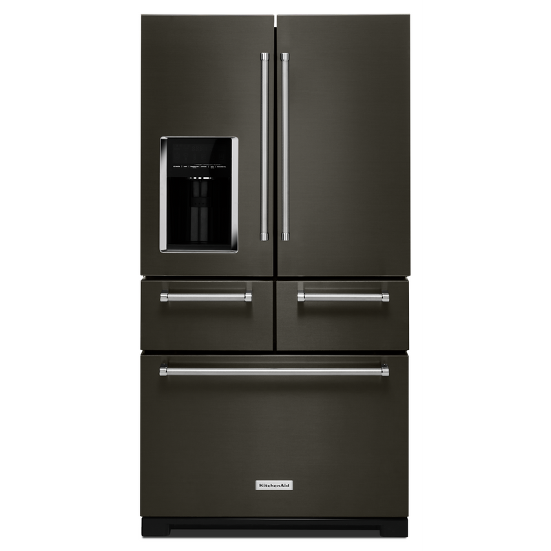 "25.8 Cu. Ft. 36"" Multi-Door Freestanding Refrigerator with Platinum Interior Design KRMF706ESS"