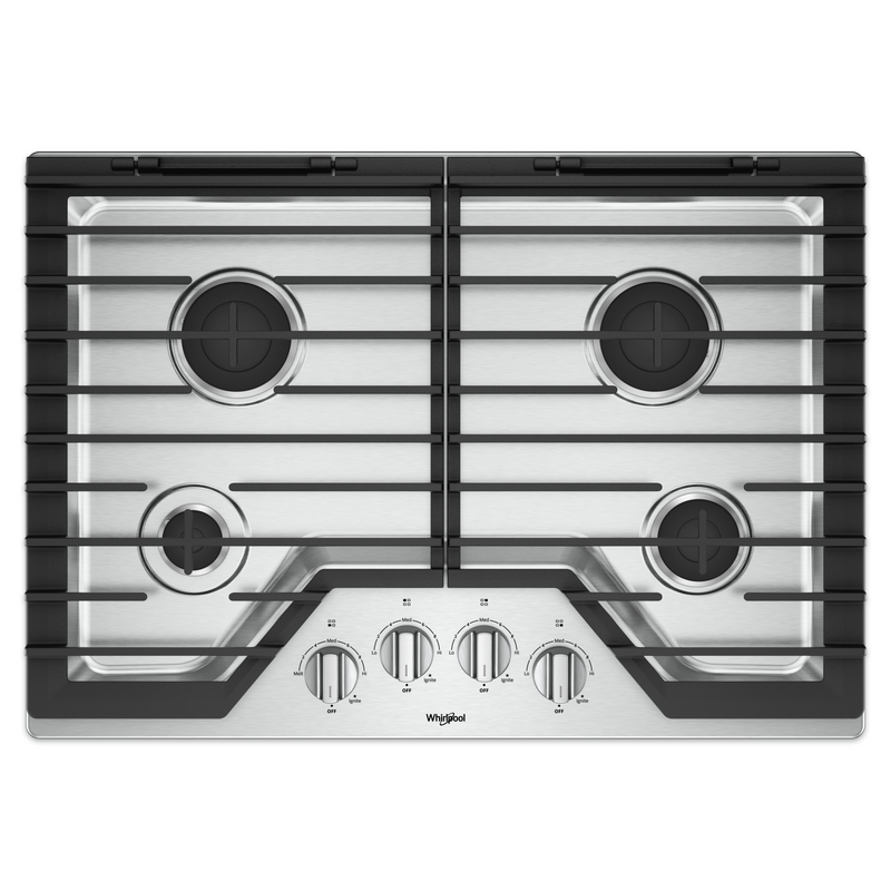 30-inch Gas Cooktop with EZ-2-Lift™ Hinged Cast-Iron Grates WCG55US0HS