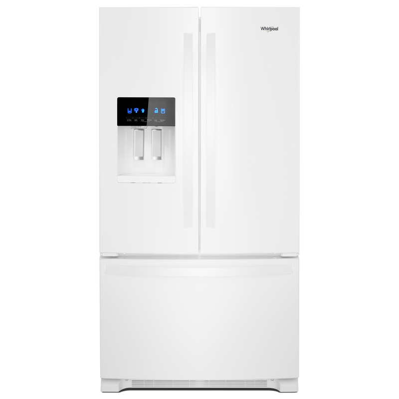 36-inch Wide French Door Refrigerator in Fingerprint-Resistant Stainless Steel - 25 cu. ft. WRF555SDHV