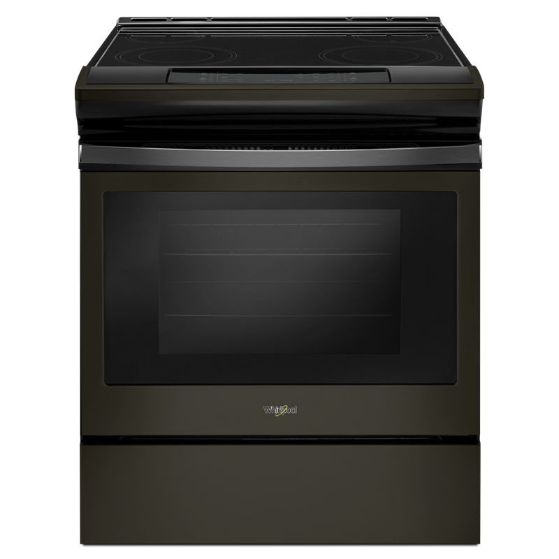 4.8 cu. ft. guided Electric Front Control Range with the easy-wipe ceramic glass cooktop YWEE510S0FW