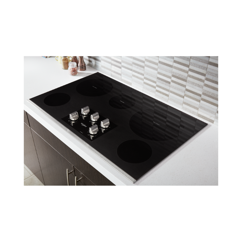 36-inch Electric Ceramic Glass Cooktop with Two Dual Radiant Elements WCE77US6HS