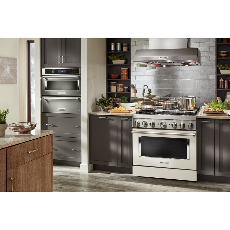 KitchenAid® 36'' Smart Commercial-Style Dual Fuel Range with 6 Burners KFDC506JMH