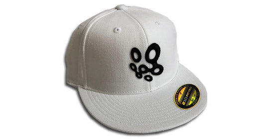 NWGolfGuys White/Black Fitted Hat