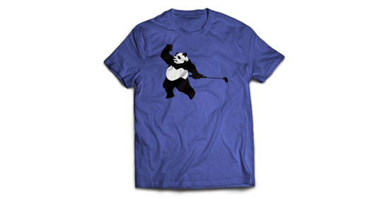 Panda Tiger Tee by Press Golf