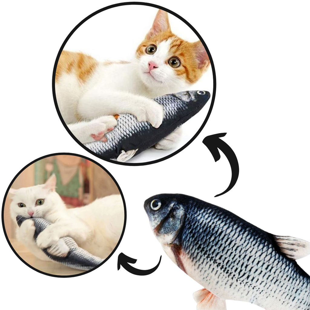 Flopping Fish Cat Toy - Fun activity for your cat - Ozayti