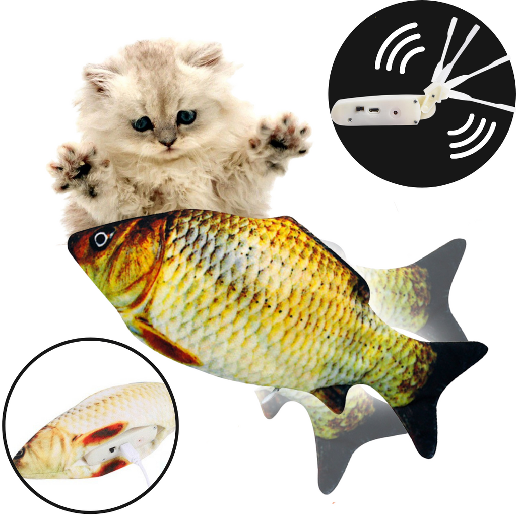 Flopping Fish Cat Toy - Sensor and long lasting battery - Ozayti
