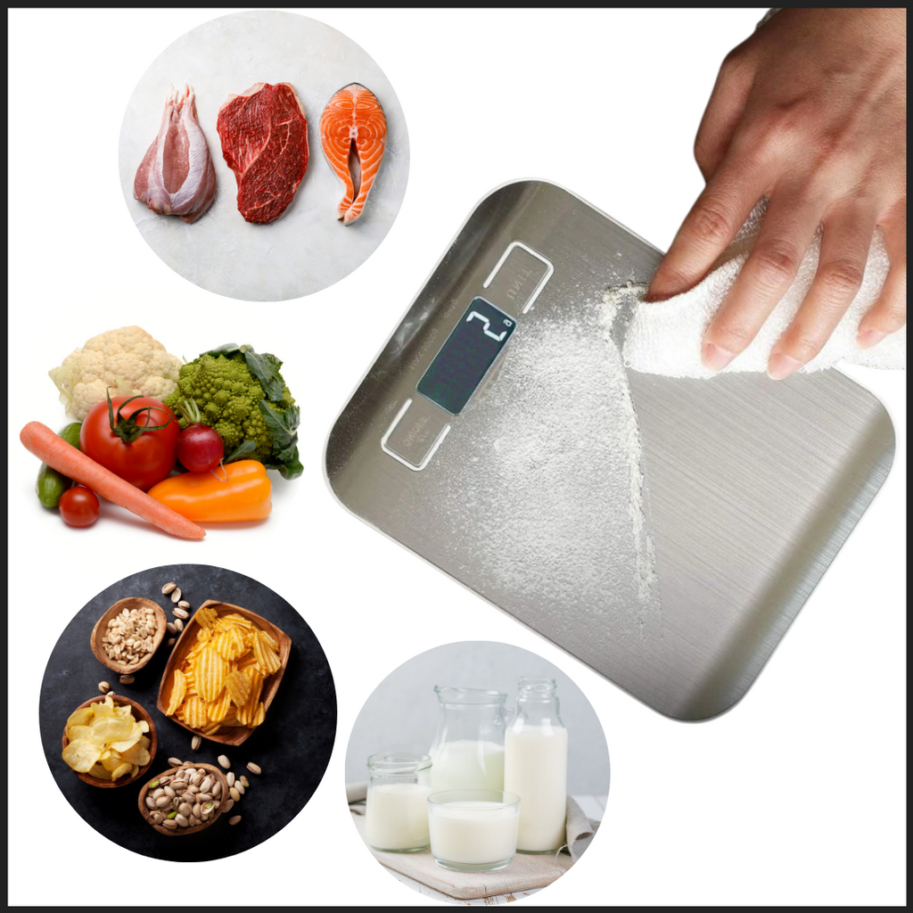 Stainless Steel LCD Digital Kitchen Scale - Cooking experience - Ozayti