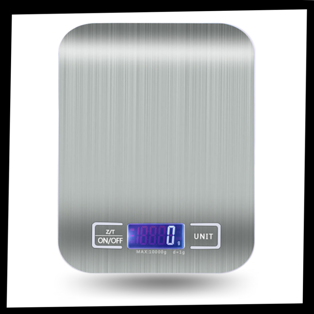 Stainless Steel LCD Digital Kitchen Scale - Included in the package - Ozayti