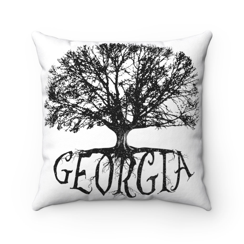 Georgia - Big Tree - Spun Polyester Square Pillow