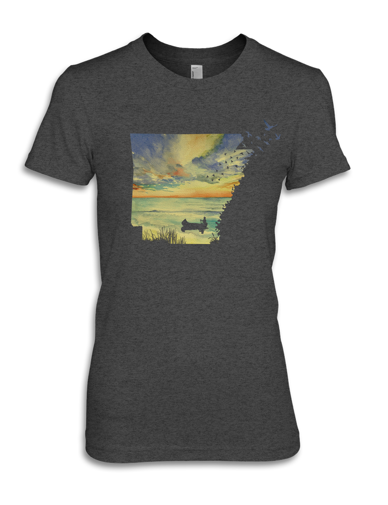 Arkansas - Sunset Birds - Women's Tee