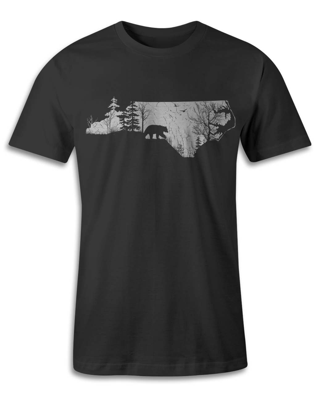 North Carolina - Animal In The Woods - Unisex Tee