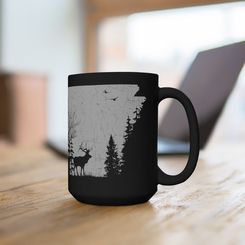 Arkansas - Black Mug 15oz