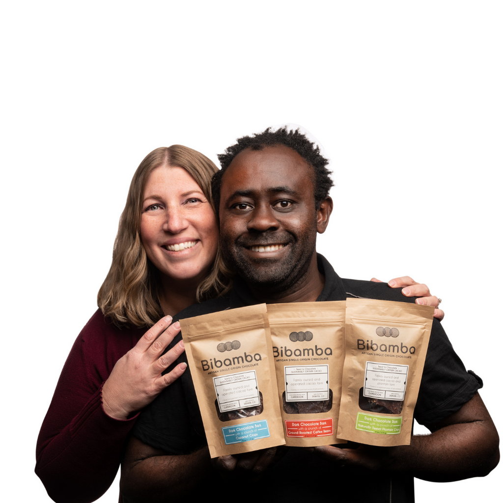 Bibamba Artisan Chocolate owners Patrick and Mara Tcheunou