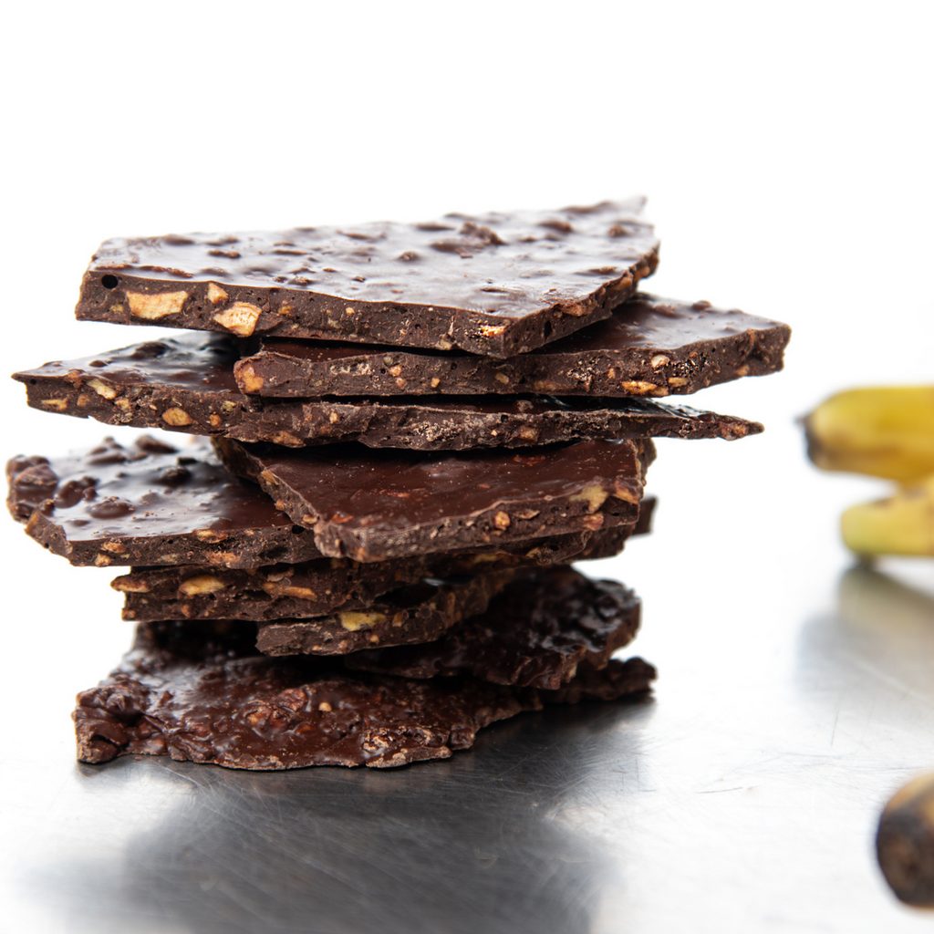 Plantain Crisp Dark Chocolate Bark