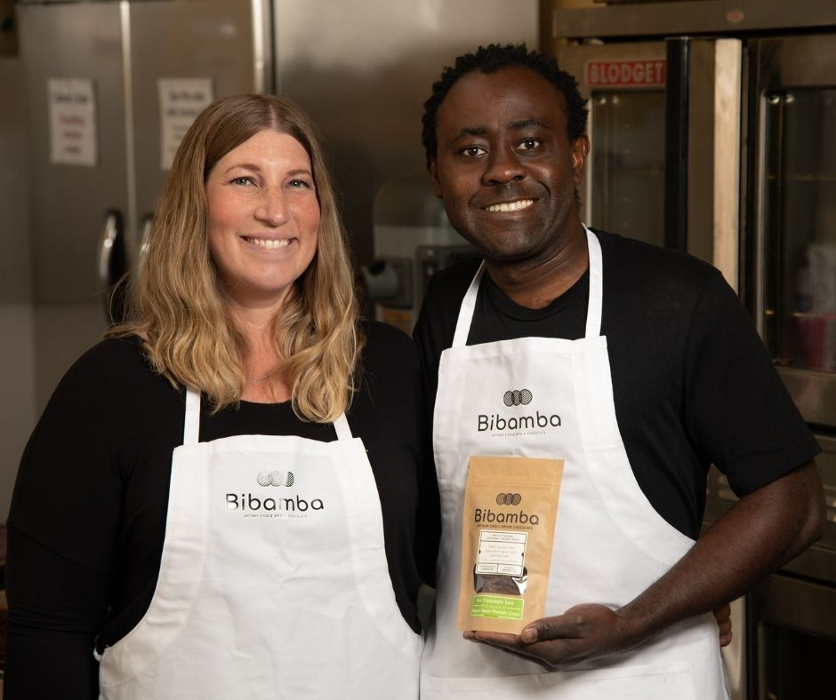 Bibamba owners, Patrick and Mara, purchased their family farm in Cameroon, west-central Africa. Bibamba chocolate is hand-crafted in Denver, Colorado.