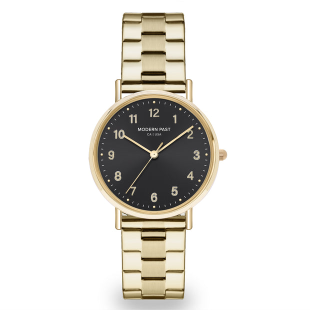 Emma Gold Stainless Link / Black
