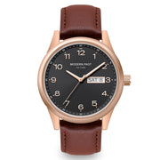 Harrison Cognac Leather Rose Gold / Black