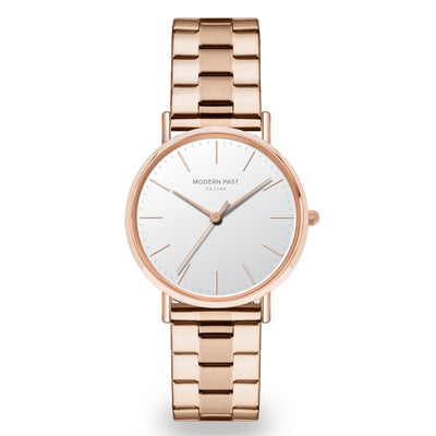 Lola Rose Gold Stainless Link / White