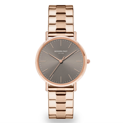 Lola Rose Gold Stainless Link / Grey