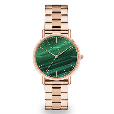 Lola Rose Gold Stainless Link / Green