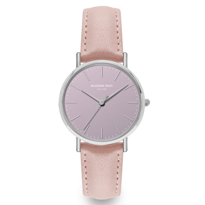 Lola Pink Leather Silver / Purple