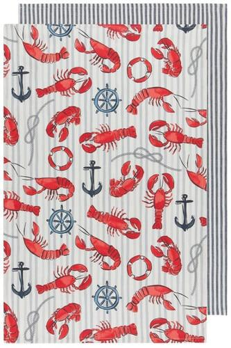 Lobster Dish Towel - Set of 2