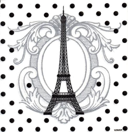 Paviot Eiffel Tower Dinner Napkin