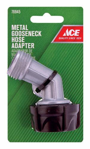 Zinc Threaded Male Gooseneck Hose Adapter