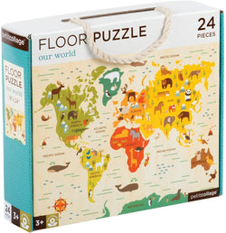 Petit Collage Floor World Puzzle