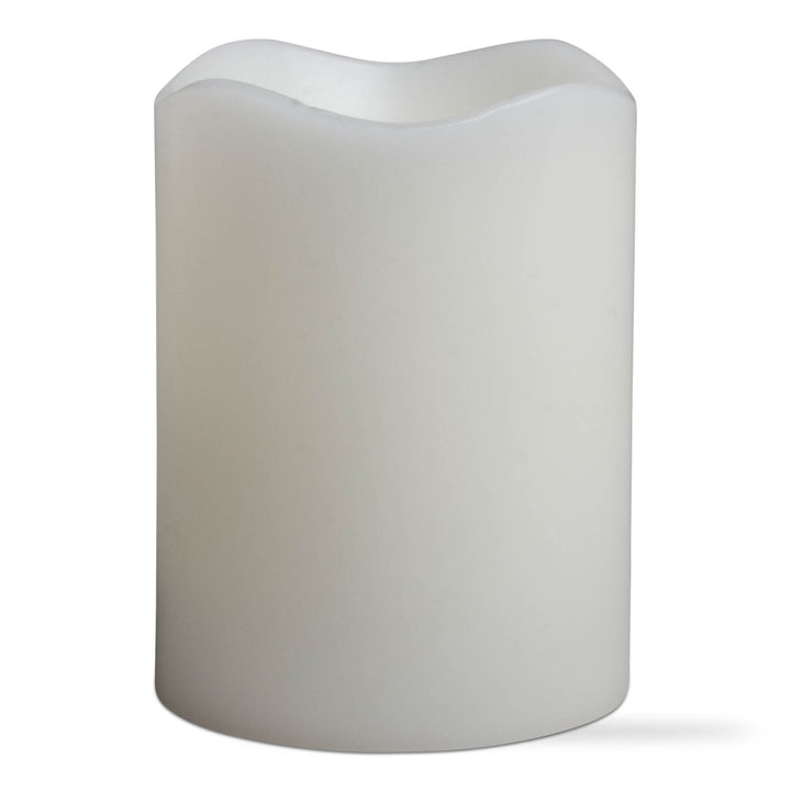 Tag LED Pillar Candle - Ivory