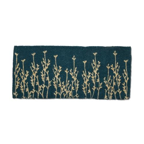 Vine Estate Coir Doormat Teal