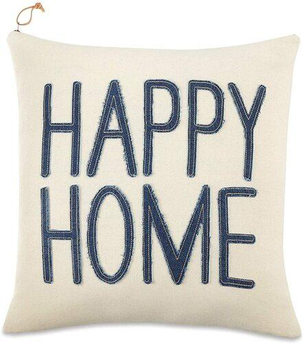 Happy Home Square Pillow 18x18