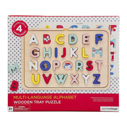 Petit Collage Multi-Language Wooden Tray Puzzle